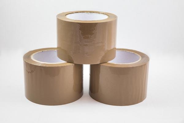 cinta adhesiva embalaje transparente marron blanco
